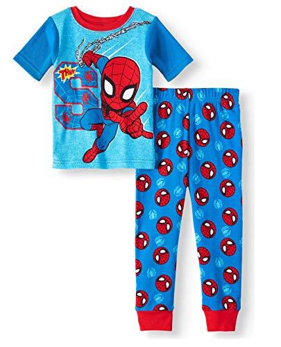 Spiderman Pajamas Web Slinging 2 Piece Cotton Sleep Set (2T) Blue