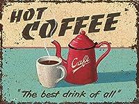 HOT COFFEE 金属板ブリキ看板警告サイン注意サイン表示パネル情報サイン金属安全サイン