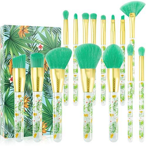 Tropical Makeup Brushes Docolor 14 Pieces Professional Makeup Brushes...