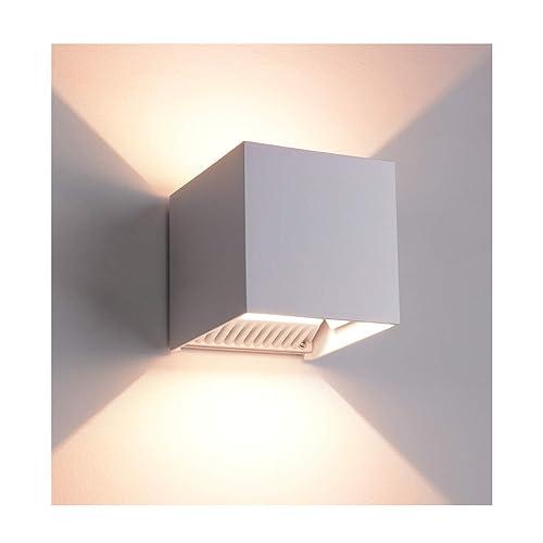 Modern White Exterior Wall Light Amazon Com