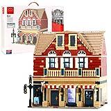 Bloques de construcción modulares para panadería y peluquería, 3968 Bloques de construcción con abrazadera Modelo de arquitectura de casa
