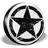MOTALIN Army Rought Star Cubierta de neumático de Repuesto Personalizada Cubierta de neumático de Rueda Apta para Jeep SUV 16In