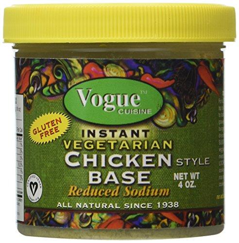 Vogue Cuisine Vegetarian Chicken Soup & Seasoning Base 4oz - Low Sodium, Gluten Free, All Natural Ingredients