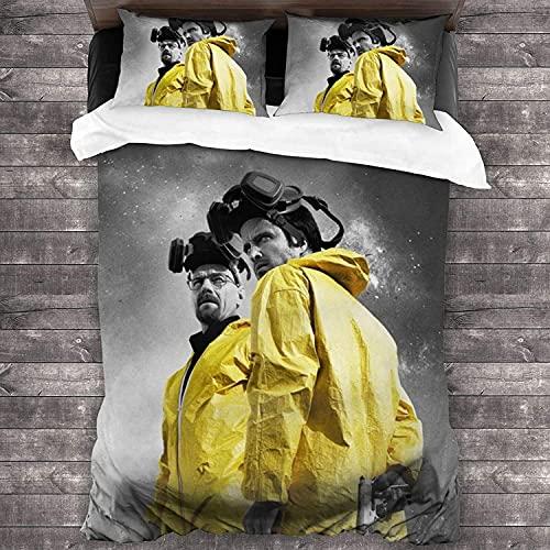 Breaking Bad - Set di biancheria da letto, 100% microfibra, adatto per tutte le stagioni, biancheria da letto di facile manutenzione (JMDS-3, 220 x 240 cm + 80 x 80 cm x 2)