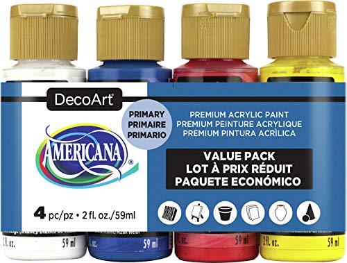 Deco Art AMERICANA ACRYL 4/PK PRIMARIO, talla única