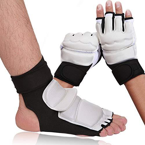Allsunny Taekwondo Foot Hand Protector Kinder Erwachsene Taekwondo Sparring Karate Training Fuß Hand Handschuhe Guard Protector Fußschutz XS