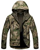 Kelmon, giacca da uomo con cappuccio, in tessuto softshell Green X-Large