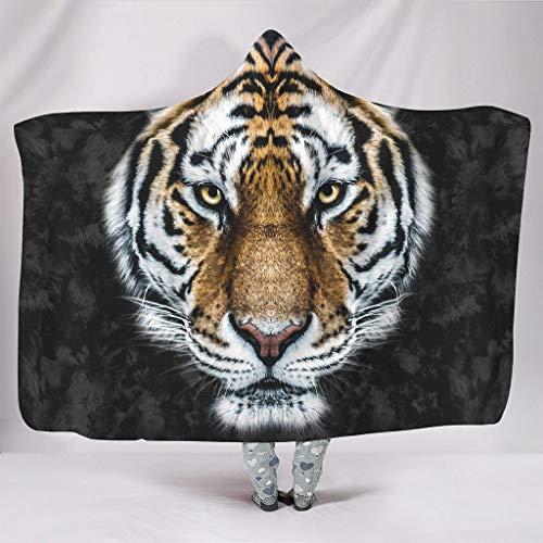 Annlotte Wilder Tiger - Sudadera con capucha para niños y niñas, color blanco, 150 x 200 cm