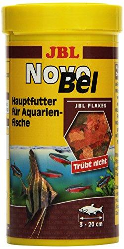 JBL NovoBel 30130 Alleinfutter für alle Aquarienfische, Flocken 250 ml