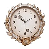 XMSIA Reloj de Pared Decorativo No Tictac Decorativo Creativo Reloj de Pared Tridimensional Pintada a Mano del Reloj de Pared de Estar Despertador Habitación Silencioso para Sala de Estar