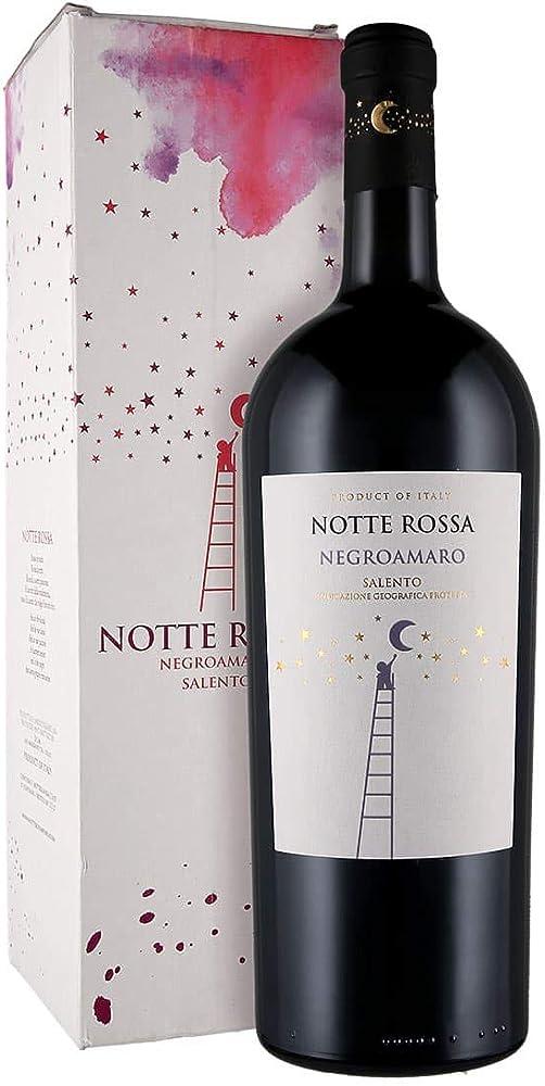 Notte rossa,negroamaro ,vino,magnum 1,5 l, astucciato Salento IGT