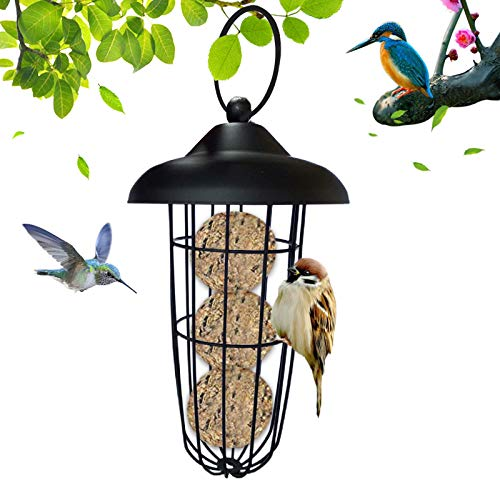Sunshine smile Comedero para pájaros Colgante de Bolas,Bola Colgando Salvaje,comedero para pájaros al Aire Libre,Aves Silvestres para Colgar,comedero para pájaros Colgante a Prueba de Ardillas