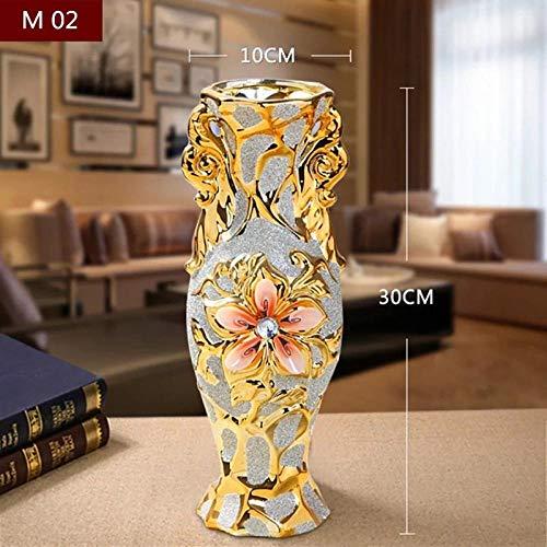 Vase Vergoldete Porzellanvase Vintage Advanced Keramik Blumenvase Wohnzimmer Ornamente Home Hochzeitsdekor Geschenk M02