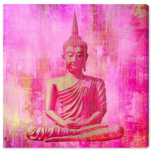 Oliver Gal 'Buddha Pink' The Classic Wall Art Decor Collection Contemporary Premium Canvas Art Print