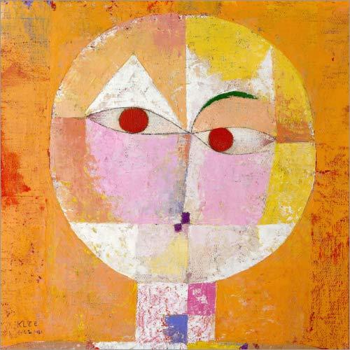 Poster 40 x 40 cm: Senecio (Baldgreis) von Paul Klee/ARTOTHEK - hochwertiger Kunstdruck, neues Kunstposter