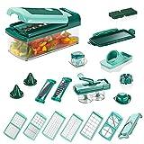 Genius Nicer Dicer Fusion Smart | Mandoline 28 en 1 Multifunction Professionelle | Trancheuse | couper- / râpé- / éplucher- / cubes- / quartier- / spirales- / manger- / légumes | Slicer | Cuisine