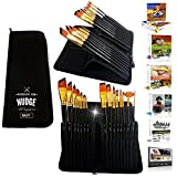 NUDGE Premium Paint Brushes (15 Piece) Art Set & Kit - Used for Acrylic, Watercolor, Oil, Gouache & Face Painting