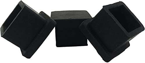 INDIAN DECOR. 6044 20 X 20 mm, Black Square Rubber/PVC Furniture Feet Leg Cap/Pack of 4 (20 X 20 mm, Black) Made in India