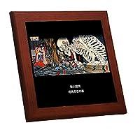 歌川国芳『 相馬の古内裏 』の木枠付きフォトタイル(浮世絵シリーズ) (トリミング なし)