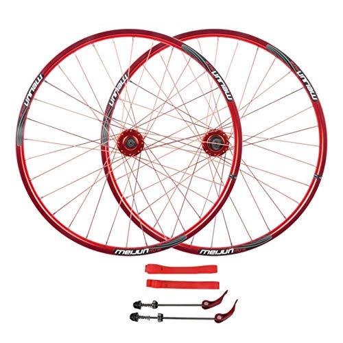 ZNND 26'' Ruedas de Bicicleta,Aleación de Aluminio Llanta MTB Doble Pared Freno de Disco Volante de Cassette de 7/8/9/10 Velocidades (Size : 26in)