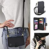 Gear Beast Crossbody Cell Phone Wallet Case Compatible with iPhone 11 Pro, Dual Folio Wallet Case with Seven Card Slots Including Transparent ID Holder and 48 to 54 Inch Adjustable Strap