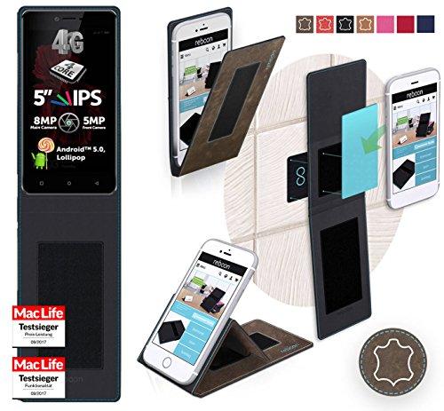 Hülle für Allview X2 Soul Lite Tasche Cover Hülle Bumper | Braun Wildleder | Testsieger