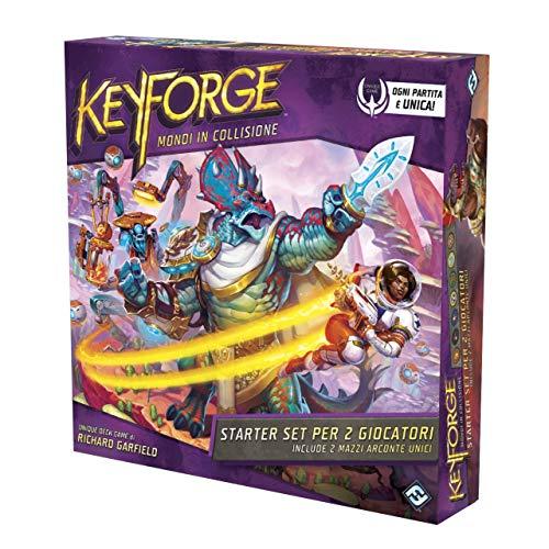 Asmodee - KeyForge: Mondi in Collisione, Starter Set per 2 Giocatori, Gioco di Carte, 10604