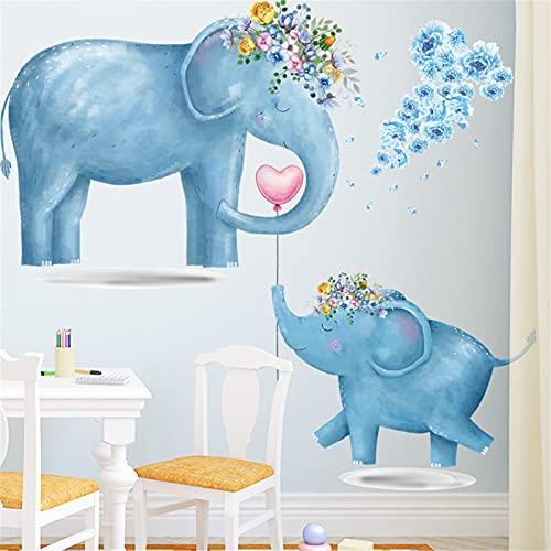 Graz Design - Adhesivo decorativo para pared, diseño de elefante azul