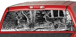 MotorINK Deers in a Forrest B/W Rear Window Graphic Decal Tint Sticker Truck SUV ute (65