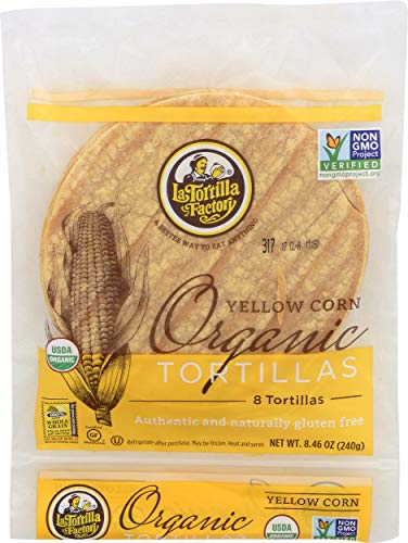 La Tortilla Factory, Tortillas Yellow Corn Organic, 8.46 Ounce