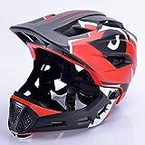Ocamo - Casco para bicicleta, casco de moto, casco de bicicleta para niños, casco de equilibrio, casco integral para exteriores, color rojo, talla libre