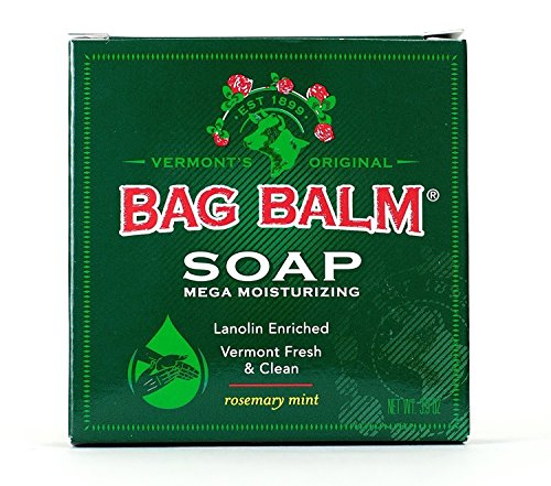 Bag Balm Mega Moisturizing Soap Rosemary Mint Scent 39 Ounce Per Bar Value Pack of 5