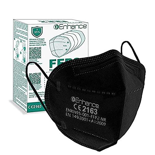 ENHANCE Mascherine FFP2 20 pezzi con marchio CE protettive, Maschera di protezione FFP2 da 20 pz mascherine FFP2