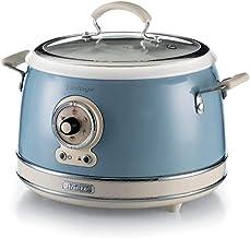 Ariete 2904, Rice Cooker, rijstkoker slow cooker, stoompan, vintage lijn, 3,5 l, keramische coating, 650 W, hemelsblauw
