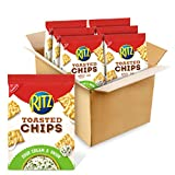 RITZ Toasted Chips Sour Cream and Onion Crackers, 6 - 8.1 oz Bags
