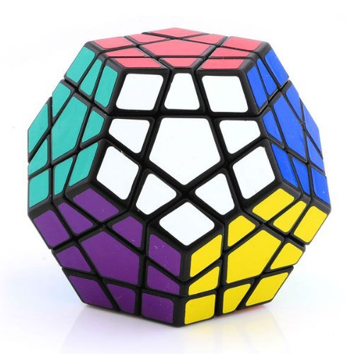 Wings of Wind - Shengshou Megaminx Black Puzzle Speed Cube Dodecaedro Smooth Cube