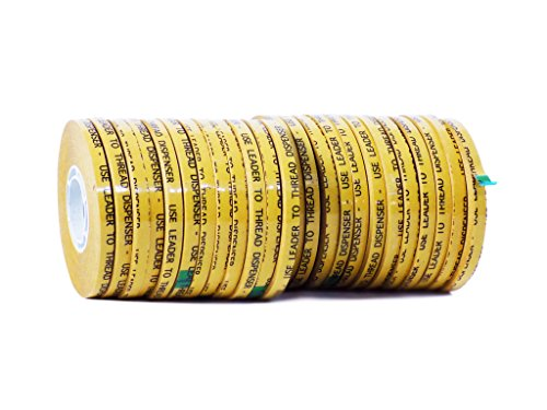 WOD RWATG20 General Purpose ATG Tape, 1/4 inch x 36 yds. (Set of 24 Rolls) Adhesive Transfer Tape Glider Refill Rolls Clear Adhesive on Gold Liner (Acid Free)