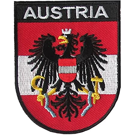 Yantec Wappen Patch Österreich Aufnäher Austria Sport Freizeit