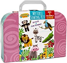 My First Sewing Kit | Starter Sew Set for Kids DIY Stitching with Travel Case | Perfect Craft for Beginner