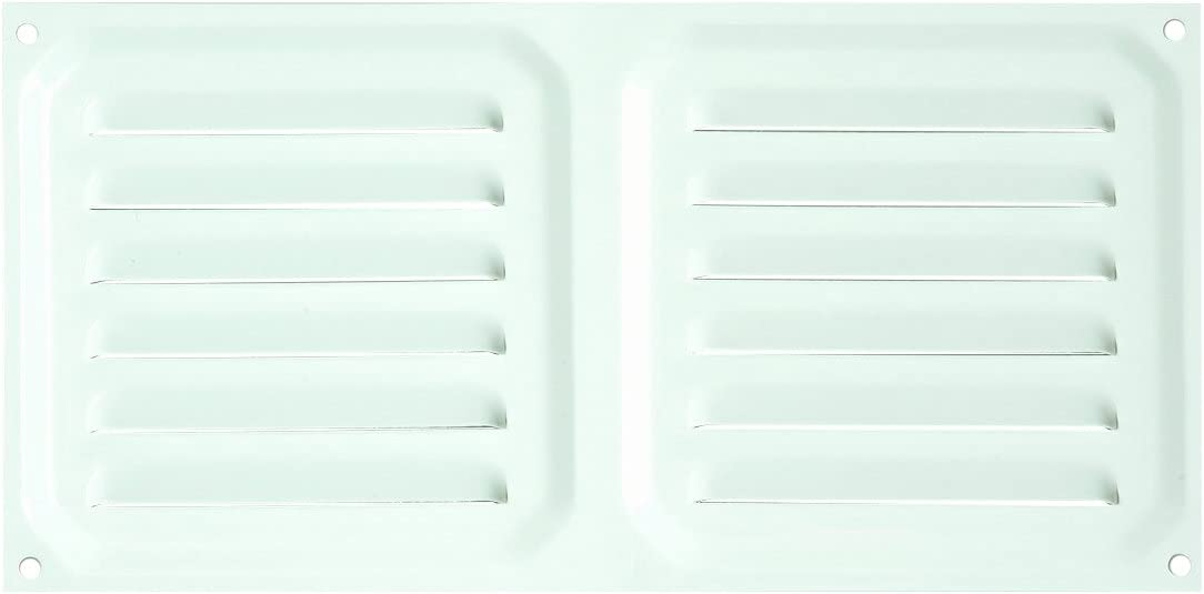 Brinox B70570D Rejilla de ventilación, Lacado Blanco, 30 x 30 cm