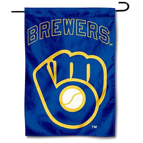 milwaukee brewers WinCraft Milwaukee Brewers Retro Throwback Glove Double Sided Garden Flag