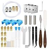 Brynnl Accesorios de impresora 3D 10 boquillas de impresora 3D MK8 de 0.4 mm, 10 agujas de limpieza de boquillas de acero inoxidable, 1 llave de boquilla y otro kit de herramientas de impresora 3D
