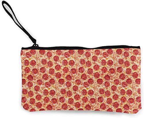 naotaori Yummy Pizza Damen Canvas Geldbörse Mini Portemonnaie Portemonnaie-Kartenhalter Handyportemonnaie Aufbewahrungstasche Federmäppchen Casual Daypacks'