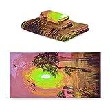 TropicalLife iRoad Juego de toallas de algodón 3 piezas de pintura africana elefante jirafa altamente absorbentes toallas de mano toallas de baño para baño cocina