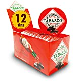 Tabasco - Spicy Dark Chocolate Wedges - Sweet and Spicy Chilli Hot Pepper Chocolate - Corporate Gifts - Round Tin - 50g (12 Pack)