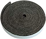 DOLAMOTY 15ft High Temp Grill Gasket Replacement for Large/XLarge Big Green Egg,Big Green Egg Accessories BBQ Smoker BGE Gasket Pre-Shrunk Accessories Self Stick Felt, 7/8' Wide