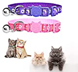 Nlager 5PCS Breakaway Cats Collars with Sun Golden Moons Stars Glow in The Dark Adjustable Safe Kitten Collars with Bells for Small Puppies Kittens