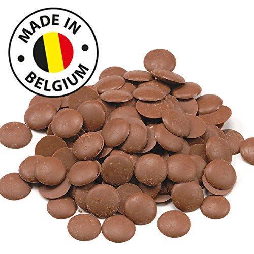 Echte Belgische Milchschokolade (1 kg) Kuvertüre Callets für Schokoladenbrunnen Fondue und alle Schokoladenrezepte