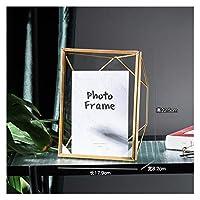 フォトフレーム ノルディックゴールドブラックメタル絵画画像ポスターフレームDIYウォールフォトキューブフレームポスタークリエイティブファミリー装飾フレーム 居間を飾る (Farbe : J7 2)