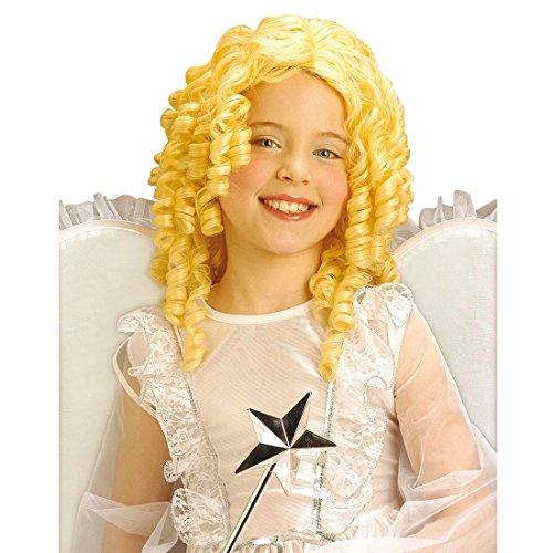 NET TOYS Perruque Enfant Ange Noël Perruque d'ange Perruque d'enfant Perruque d'ange Perruque de Noël Perruques d'ange Perruque bouclée Carnaval